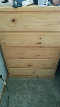 brown wooden 5-drawer chest Tacoma, 98445
