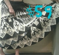 black and gray circle skirt