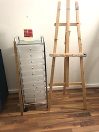 ART LOVERS ! Art Easel with 10 drawer organizer Roller cart and More Silver Spring, 20910