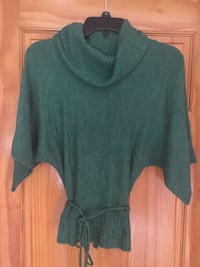 Misses green cowl neck sweater Mineola, 11501