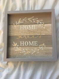 brown and gray wooden wall decor