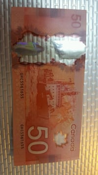Circulated Canada Rare $50 Fifty Dollar Bank Note  Toronto, M4C 1M7