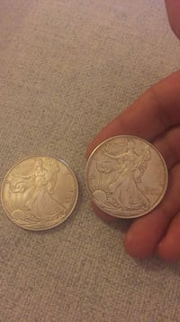 Two round silver-colored coins Irvine, 92618