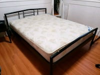 white and black floral mattress & bed frame Surrey, V3S 4R1