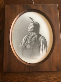 """Original drawing """"Wolf Robe 1891"""" done in 1991"""