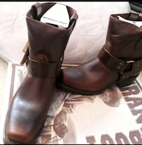 pair of brown Durango leather boots Valley Stream, 11580