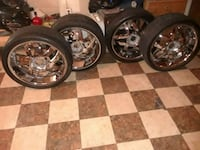 Get on 22 inch rims and tires no caps unilug Capitol Heights, 20743