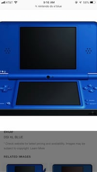 blue Nintendo DS game console