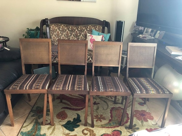 Tremendous Mid Century Modern Cane Back Leg O Matic Folding Chairs Set Of Four Condition Is Excellent To Fair Only One Chair Needing Tlc As Shown In Photos Inzonedesignstudio Interior Chair Design Inzonedesignstudiocom
