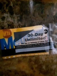 30 day Unlimited Metro card Mount Vernon