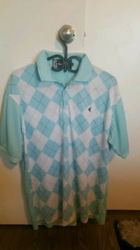 blue and white plaid button-up shirt Toronto, M3H 5Y8