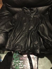 black leather zip-up jacket Kamloops, V2B 3M2