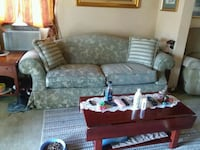 gray and white floral fabric sofa set Toledo, 43609