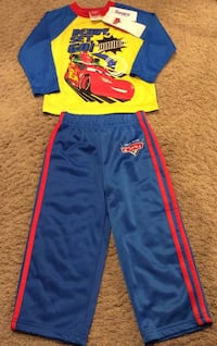 Disney Pixar red, blue, & yellow toddler's activewear- brand new with tag Calgary, T2J