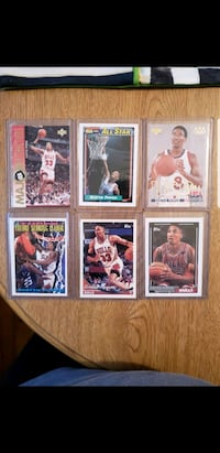 6 Scottie Pippen assorted cards  Latham, 12110