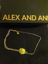 """Alex and Ani 14kt Gold plated """"Lotus Peace"""""""