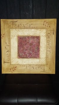 square brown and red wooden photo frame Winnipeg, R2L 2B8