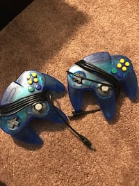 2 Pack N64 USB Controller (Clear Blue) Sykesville, 21784