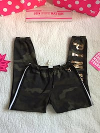 Pink Victoria's Secret Campus Sequin Logo Camo Pants Bakersfield, 93312