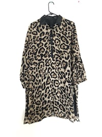 black and brown leopard print long sleeve dress Pickering, L1X 2T1