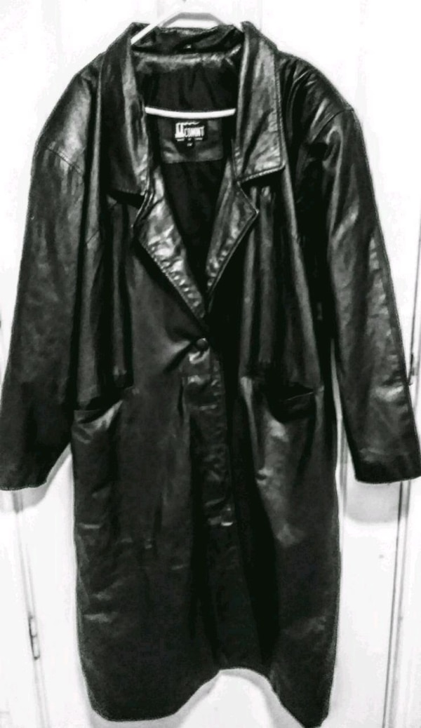 Full-length Leather Trench