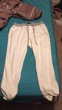 White and blue track pants Grand Prairie, 75050