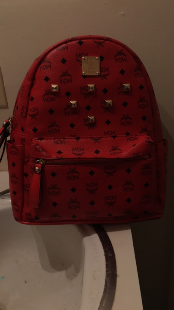 4d4d375c2171d1 Used Red and black mcm leather backpack for sale in Mesquite - letgo