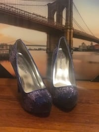 Blue and Purple Just Fab Pumps Steger, 60475
