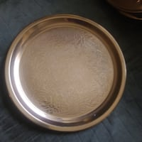 round brown and white ceramic bowl WASHINGTON