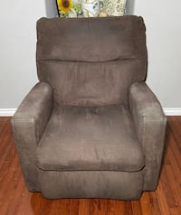 Southern Motion Dark Brown Polyester Rocking/Reclining Armchair