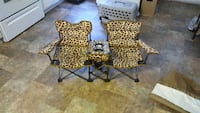 2beige and brown giraffe print camper chairs Paterson, 07505