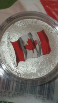 Coloured Flag pure silver limited edition coin