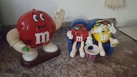 M&M candy dispensers