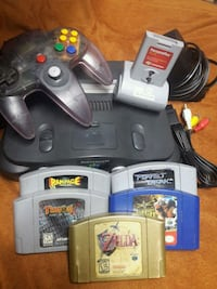 Nintendo 64 N64 system bundle console plus 5 games