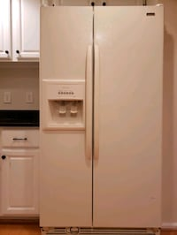 white side by side refrigerator with dispenser Burke, 22015
