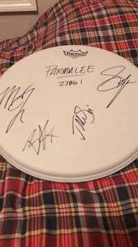 Parmalee country band autographed drumhead Valrico, 33594