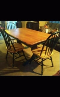 GREEN AND OAK DINING ROOM SET 6 CHAIRS Concord, 03301
