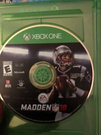 Xbox One Madden NFL 18 disc Capitol Heights, 20743