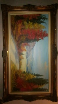 Oil Painting signed E.A. Leis  Kitchener, N2H 5K9