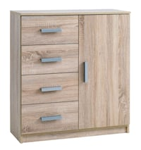 brown wooden 2-drawer chest Bolton