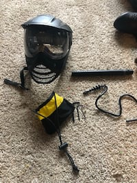 PaintBall This is a description of what you'll be getting. (Same as pictures)   1 Tippman Cronus paintball gun w/ 8.5inch barrell  2 hoppers (one custom elbow attachment hopper)  1 mask w/ goggles (needs new goggles) 2 CO2 tanks (9oz & 12oz) 1 squeegee cl Hyattsville, 20785
