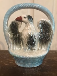 Collectible Vintage Lustreware Eagle in a Basket. Made in Brazil #1910