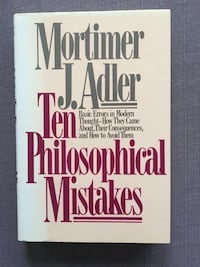 Ten Philosophical Mistakes classic 1985 1st Edition philosophy book