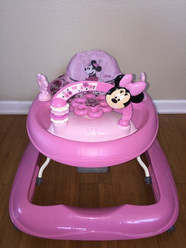 Used Bright Starts Minnie Mouse Walker For Sale In San