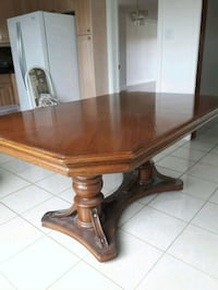 brown wooden framed glass top coffee table Toronto, M6C 3N1