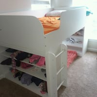 white wooden bunk bed with mattress Brambleton, 20148
