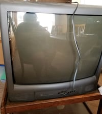 """Antique 25"""" GE Color Tube TV (not flat, works great!)"""
