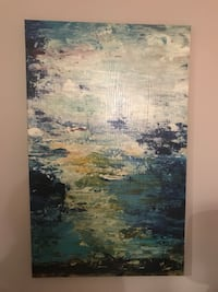White and blue abstract painting Sayreville, 08879