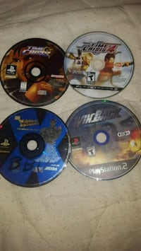 two PS4 game discs with case Alexandria, 22305