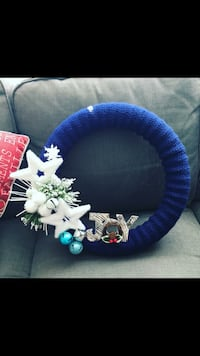Stunning blue and whit hand made Wreath, perfect gift idea!